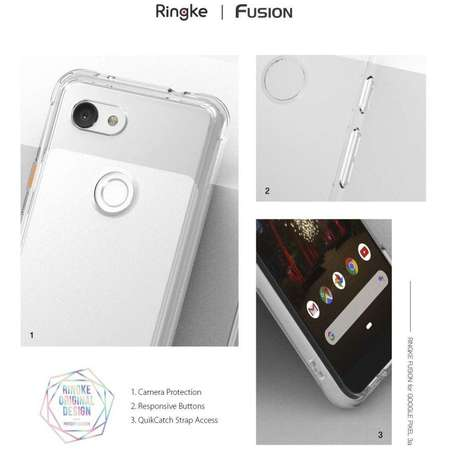 Carcasa Ringke Fusion Google Pixel 3a Smoke Black