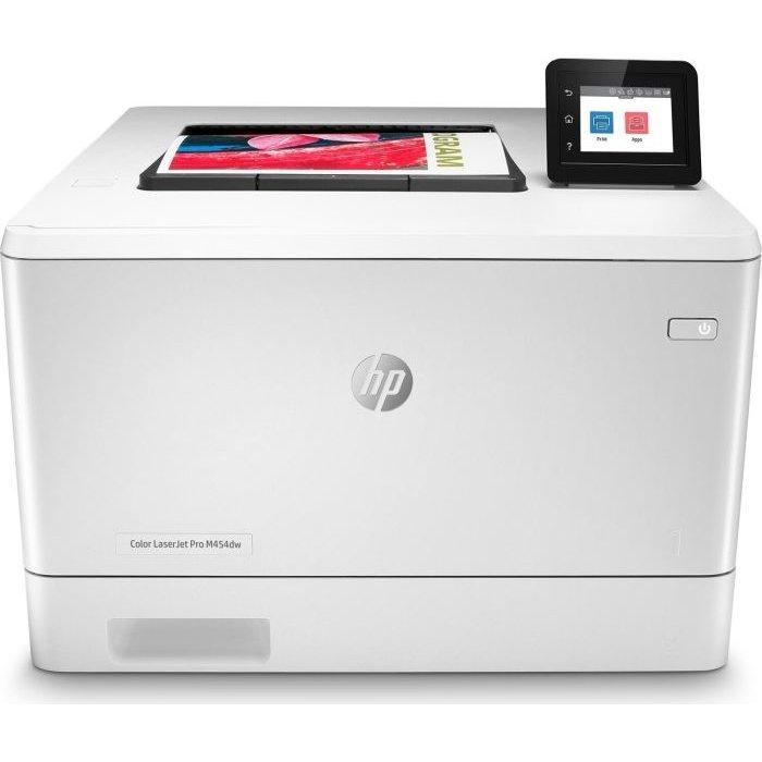 Imprimanta laser color LaserJet Pro M454dw Retea Wi-Fi A4 Alb thumbnail