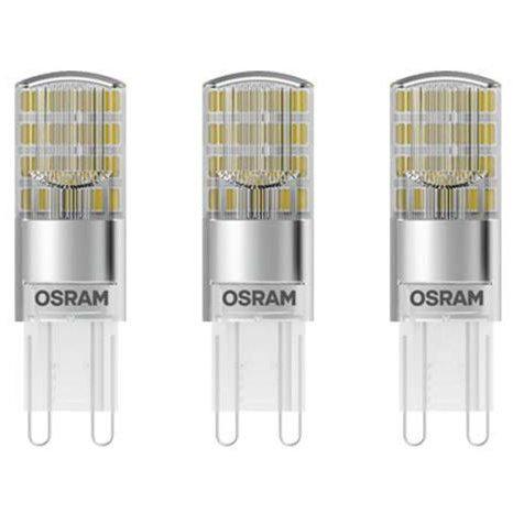 Set 3 becuri LED 2.6W G9 Bi-pini 2700K lumina calda 320 lumeni A++ thumbnail