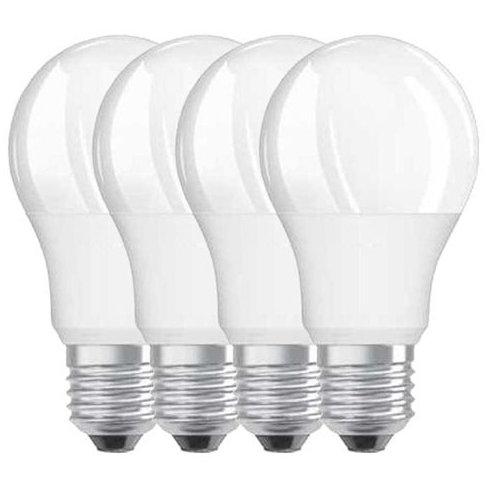 Set 4 becuri LED 9W E27 A60 2700K lumina calda 806 lumeni A++