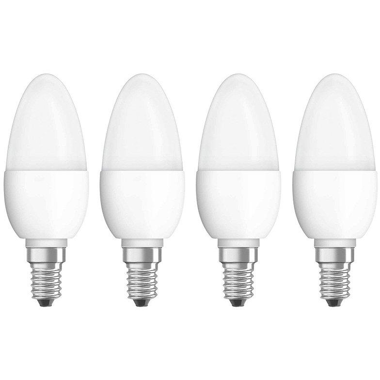 Set 4 becuri LED 5W E14 B40 4000K lumina neutra 470 lumeni A++