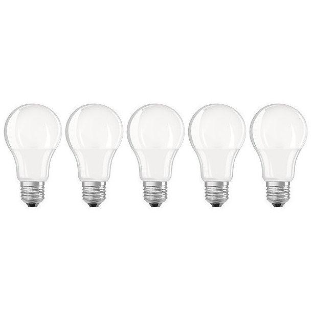 Set 5 becuri LED 9W E27 A60 2700K lumina calda 806 lumeni A++