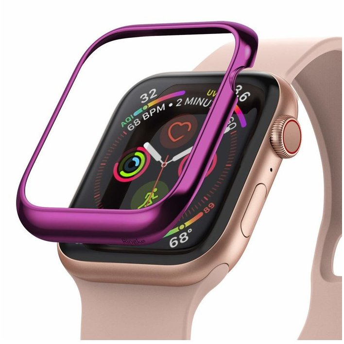 Rama ornamentala otel inoxidabil Violet pentru Apple Watch 4 44mm