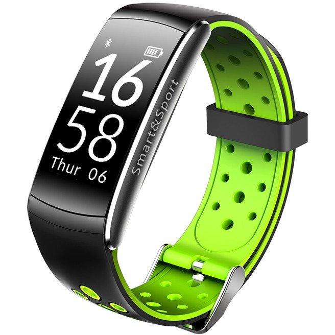 Bratara Fitness Q8 Negru / Verde thumbnail