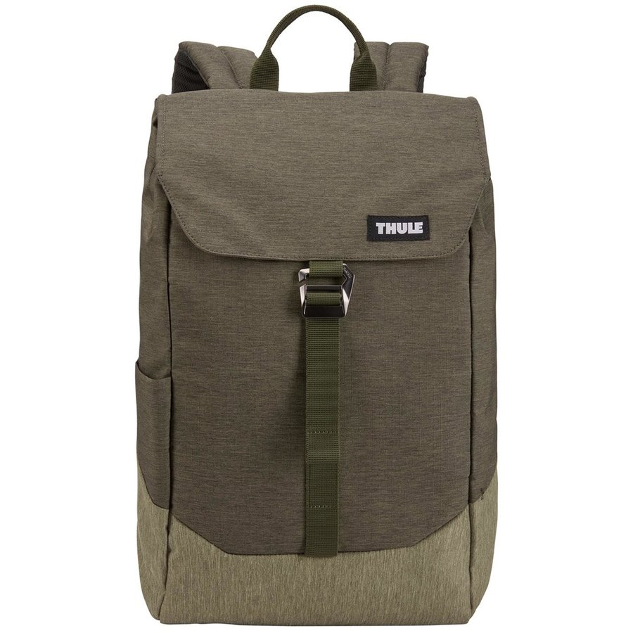 Rucsac urban cu compartiment laptop LITHOS Backpack 16L Forest Night/Lichen