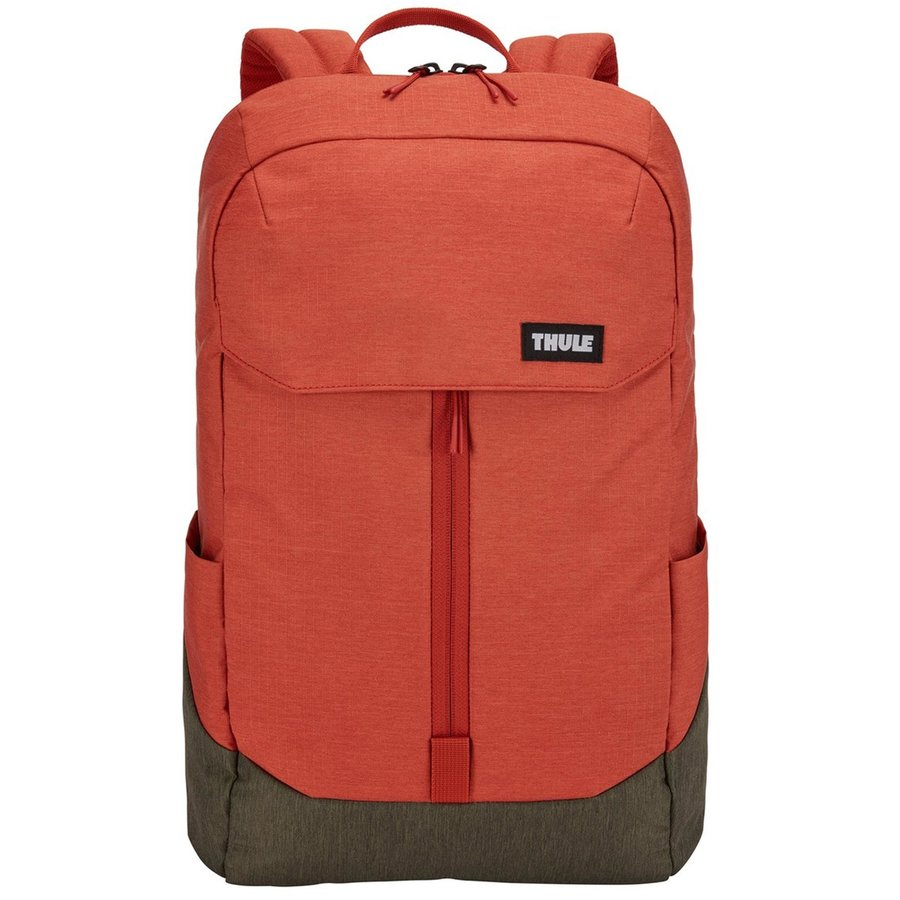 Rucsac urban cu compartiment laptop LITHOS Backpack 20L Rooibos/Forest Night