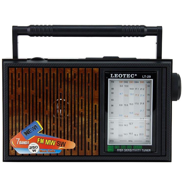 Radio retro de birou LT-29 Maro / Negru