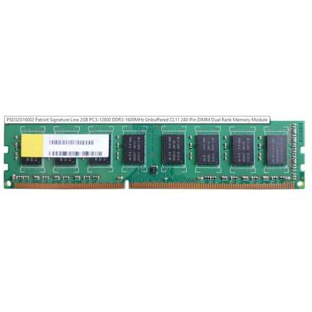 Memorie Patriot Signature DDR3 2GB 1600 MHz 1.5V