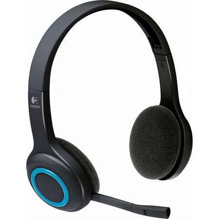 Casti Logitech Over-Head H600 Wireless Black-Blue