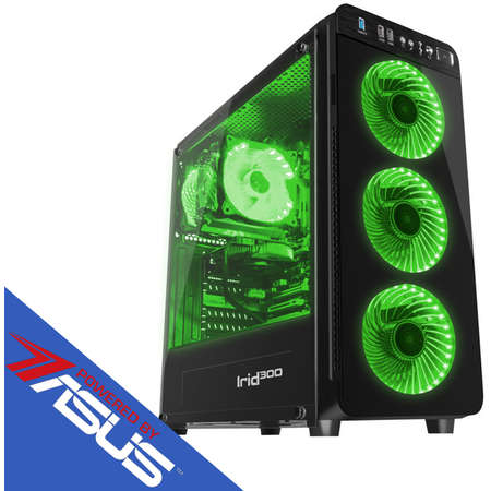 Sistem desktop Vibe V5 Powered by ASUS AMD Ryzen 3 2200G Quad Core 3.5 GHz 16GB RAM DDR4 nVidia GeForce GTX 1660 Ti STRIX GAMING O6G 6GB GDDR6 192bit SSD 240GB + HDD 1TB Free Dos Black