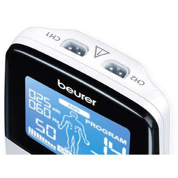 Aparat de electrostimulare musculara Beurer EM49 2 canale 4 electrozi Alb