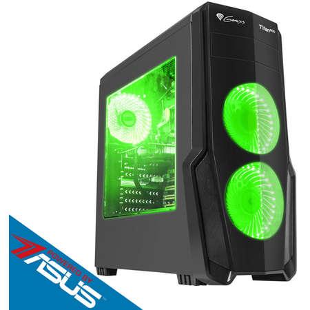 Sistem desktop Strike V4 Powered by ASUS AMD Ryzen 5 2600 Hexa Core 3.4 GHz 8GB RAM DDR4 nVidia GeForce GTX 1660 Ti TUF GAMING O6G 6GB GDDR6 192bit SSD 240GB + 1TB HDD Free Dos Black