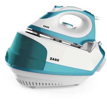Statie de calcat Zass SG 03 1500W 800W 1.2 litri 4.5 bari Albastru