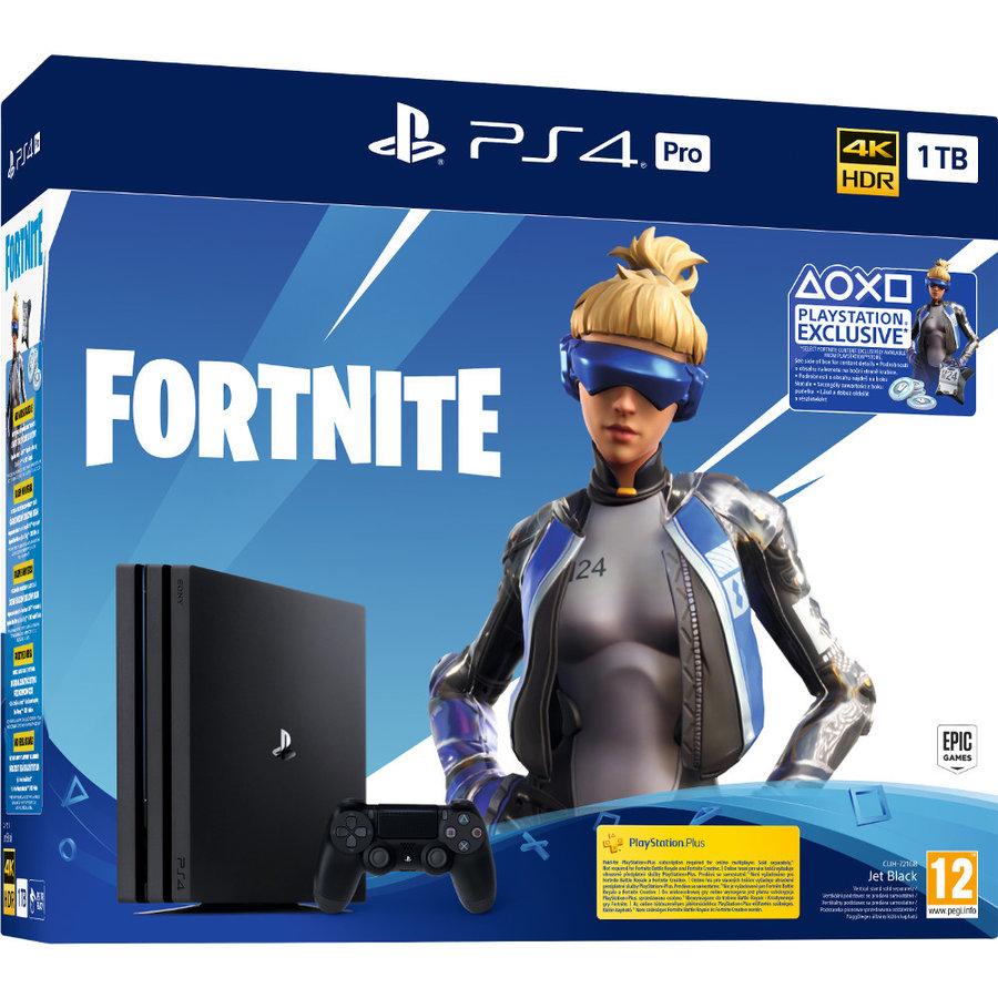 Consola PlayStation PS4 PRO 1TB Fortnite Neo Versa Bundle 4K HDR Black thumbnail