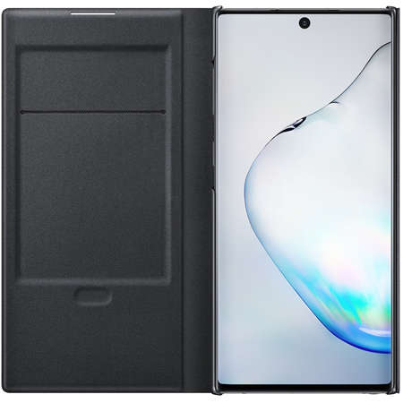 Husa Flip Cover Book Led View Samsung Galaxy Note 10 Plus Black