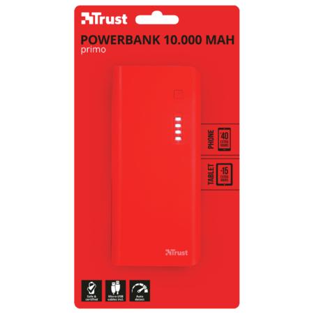 Acumulator extern Trust Primo 10000mAh Red