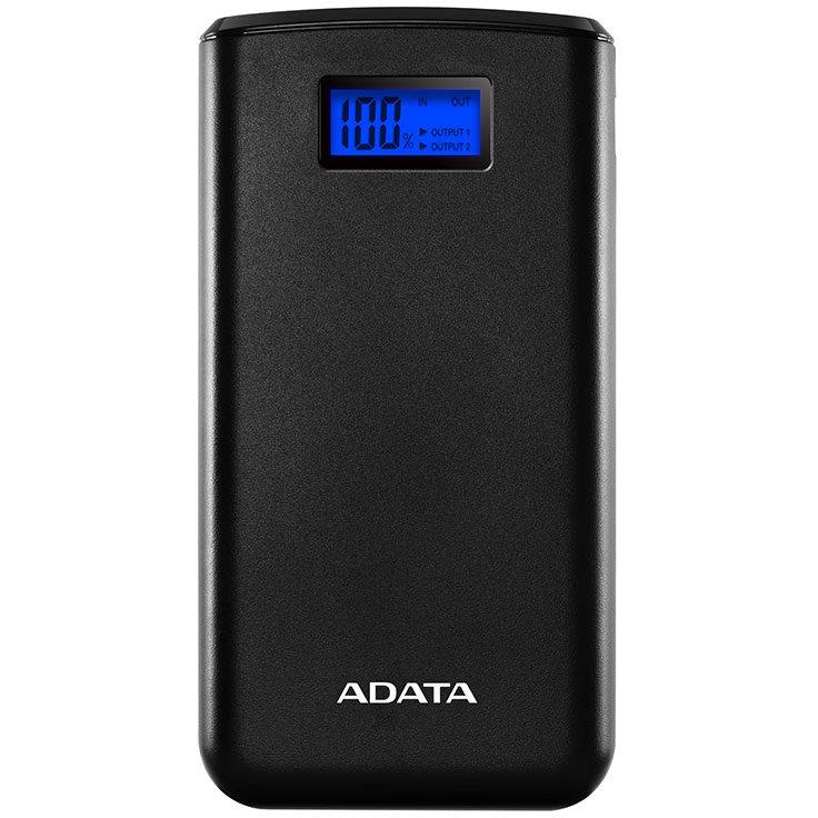 Acumulator extern S20000D Afisaj digital 20000mAh 2 x USB Black