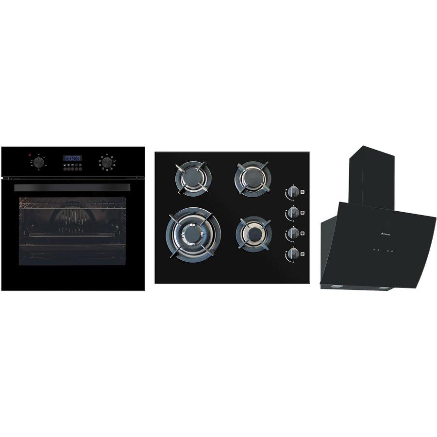 Pachet Cuptor electric + Plita + Hota Elegant Deco Touch Black Glass thumbnail