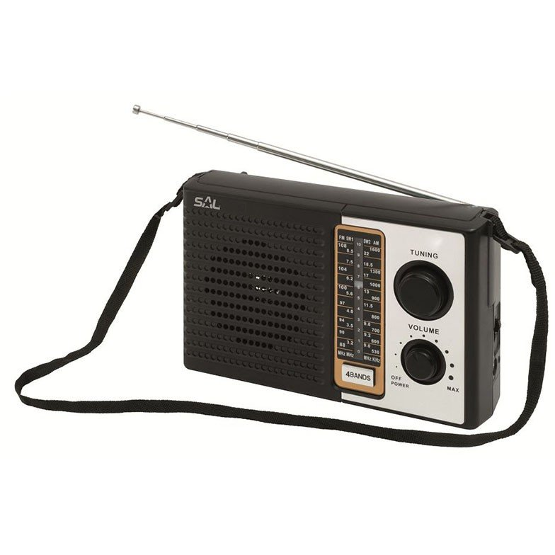 Radio portabil retro 4 benzi Negru