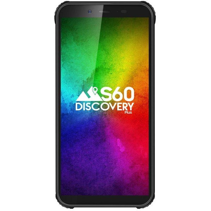 Telefon mobil S60 Discovery Plus 16GB 3GB RAM IP68 NFC Dual Sim 4G Black (Android 9)