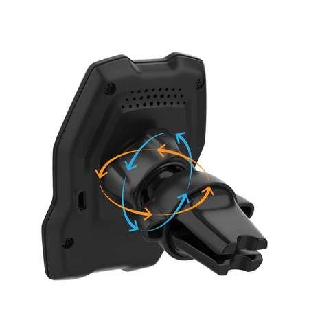 Incarcator NEX TECH WirelessMagnetic Certificat Qi prindere Grila Ventilatie Compatibilitate Universala Negru