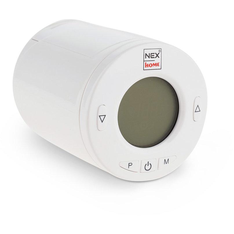 Termostat Smart Home Wireless Programabil Display 27mm 5 Butoane Usor De Instalat Alb