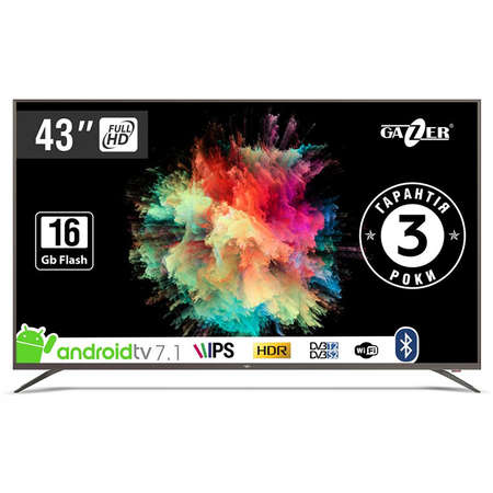 Televizor GAZER LED Smart TV43-FS2G 108cm Full HD Black