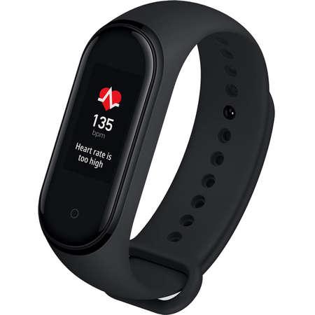 Bratara Fitness Xiaomi Mi Band 4 Negru ecran OLED waterproof bluetooth 5.0 senzor cardiac PPG EU Version