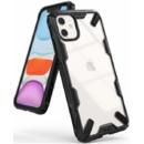 Fusion X Transparent / Negru pentru Apple iPhone 11