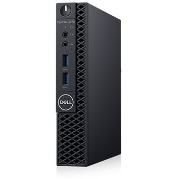 Sistem desktop OptiPlex 3070 MFF Intel Core i5-9500T 8GB DDR4 256GB SSD Linux 3Yr BOS Black thumbnail
