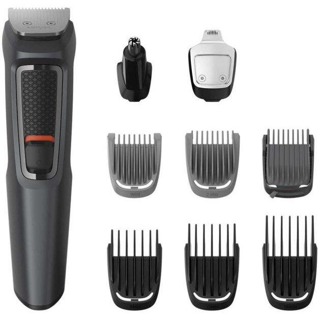 Kit De Ingrijire Face Mg3747/15 Hair & Body 9 In 1 Multigroom Fara Fir 70 Min Negru/gri
