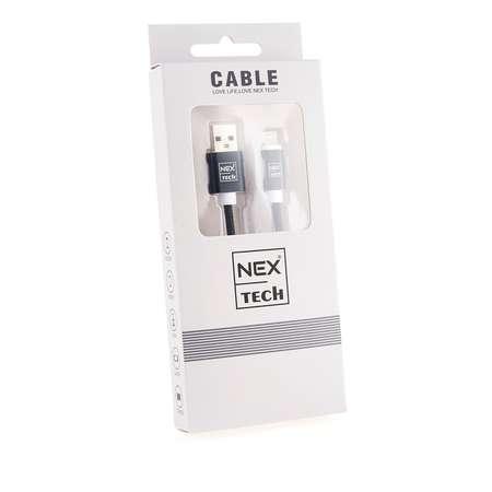 Cablu de date / incarcare NEX TECH Lightning PREMIUM 2m Transfer date Incarcare Sincronizare Flexibil Compatibilitate iPhone  Negru