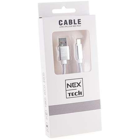 Cablu de date / încărcare NEX TECH Type C Premium 1m Transfer date Incarcare Sincronizare flexibil Compatibilitate Universala Gri