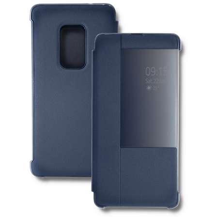 Husa Flip Cover Qoltec Premium Navy Blue pentru Huawei Mate 20