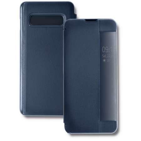 Husa Flip Cover Qoltec Premium Navy Blue pentru Samsung Galaxy S10 Plus