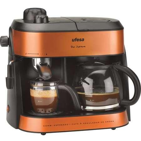 Espressor cafea Ufesa CK7355 1 Litru 15 bari 1800W Negru / Potocaliu