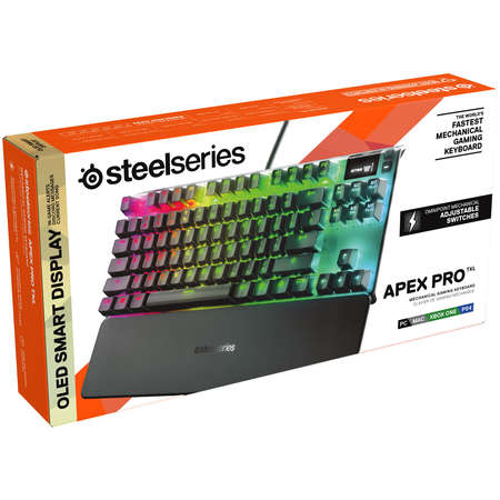 Tastatura gaming SteelSeries Apex Pro TKL Black