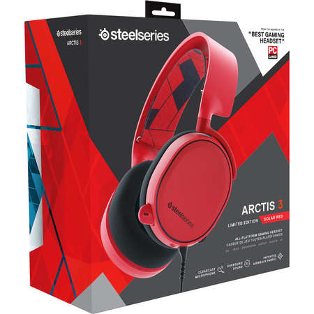 Casti SteelSeries Arctis 3 Solar Red