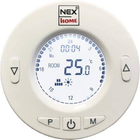 Pachet 4 termostate NEX HOME Wireless Programabile cu Display 1 Modul de Conectare Regleaza curgerea apei prin Calorifer