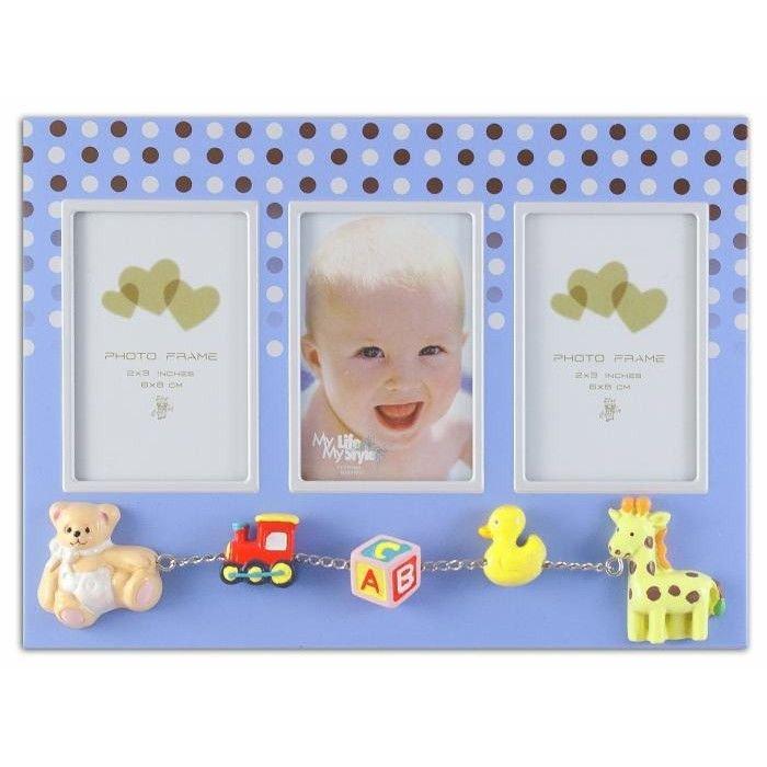Rama foto multipla baby dots format 6x8 cm Albastru thumbnail