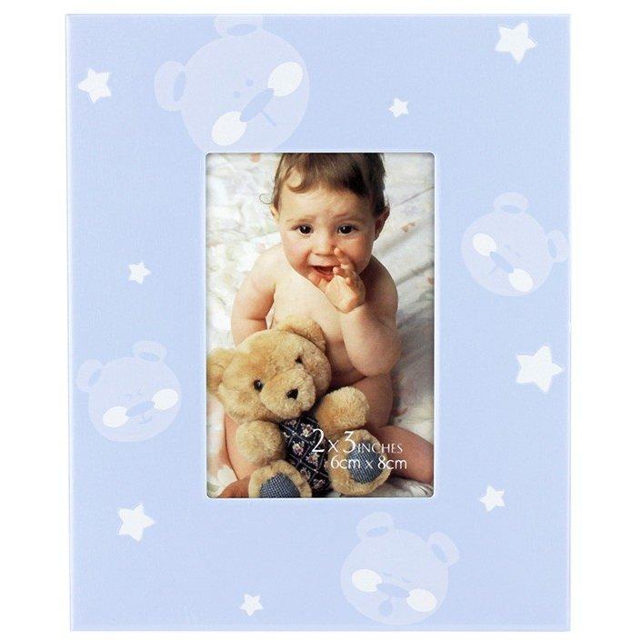 Rama foto baby teddy bear format 6x8 cm Albastru thumbnail