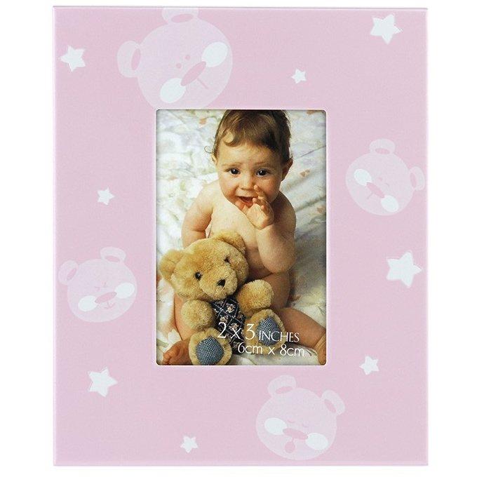 Rama foto baby teddy bear format 6x8 cm Roz thumbnail