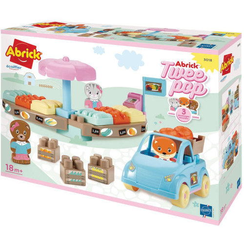 Set de constructie Abrick Piata Twee Pop cu masina si 3 figurine thumbnail