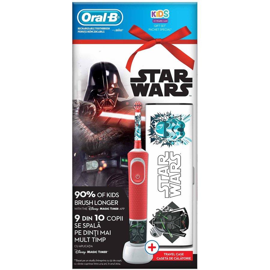 Set periuta electrica Oral-B Vitality Star Wars pentru copii + caseta calatorie