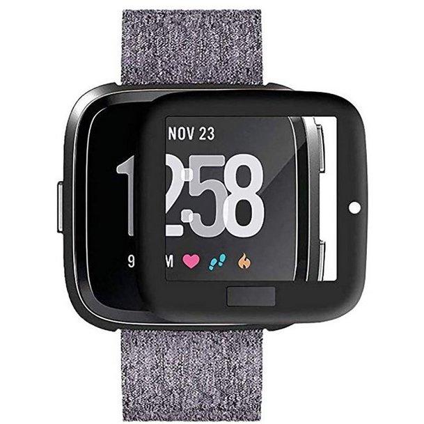 Folie protectie 3D Pet Cover Negru Full Glue pentru Fitbit Versa thumbnail