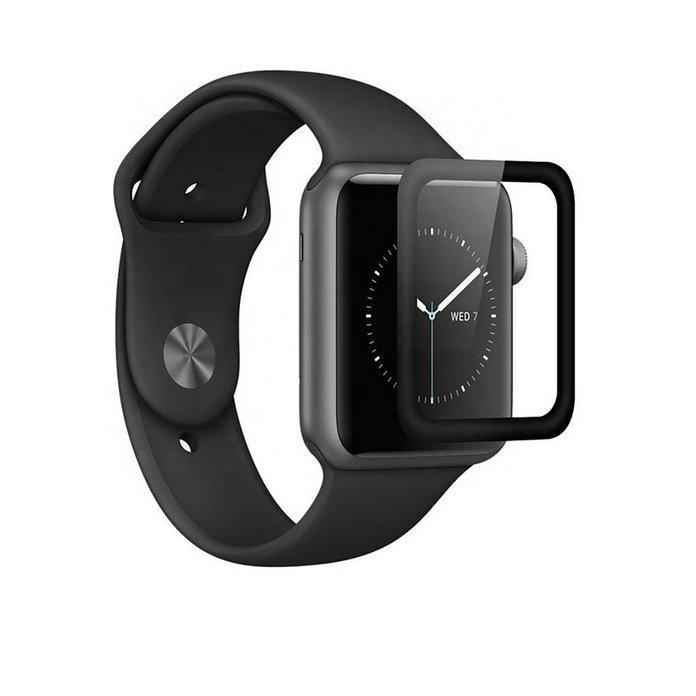 Folie sticla securizata 3D Full Glue Negru pentru Apple Watch 4/5 40mm thumbnail