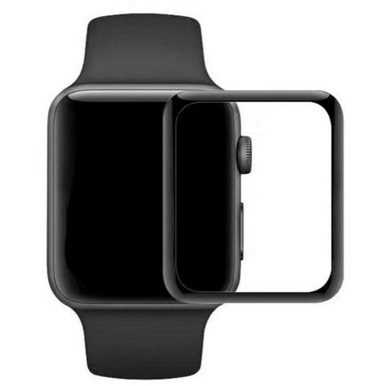 Folie sticla securizata 3D Full Glue Negru pentru Apple Watch 4/5 44mm thumbnail
