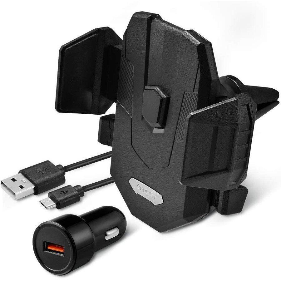 Suport universal X35W Qi Wireless Air Vent Mount Negru