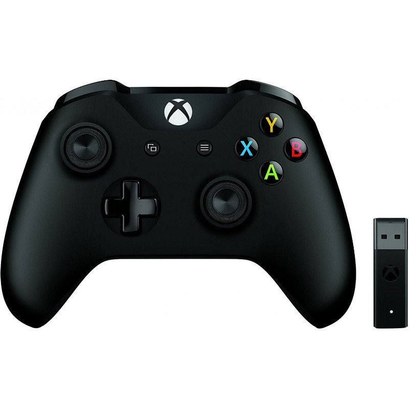 Gamepad Xbox One Wireless Controller Black + Wireless Adapter v2 thumbnail