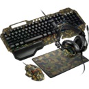 Kit Gaming 4 in 1 Canyon Argama Tastatura Standard + Mouse Optic + Mouse Pad + Casti Military
